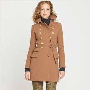 J. Crew Doublecloth Townhouse Trench Coat